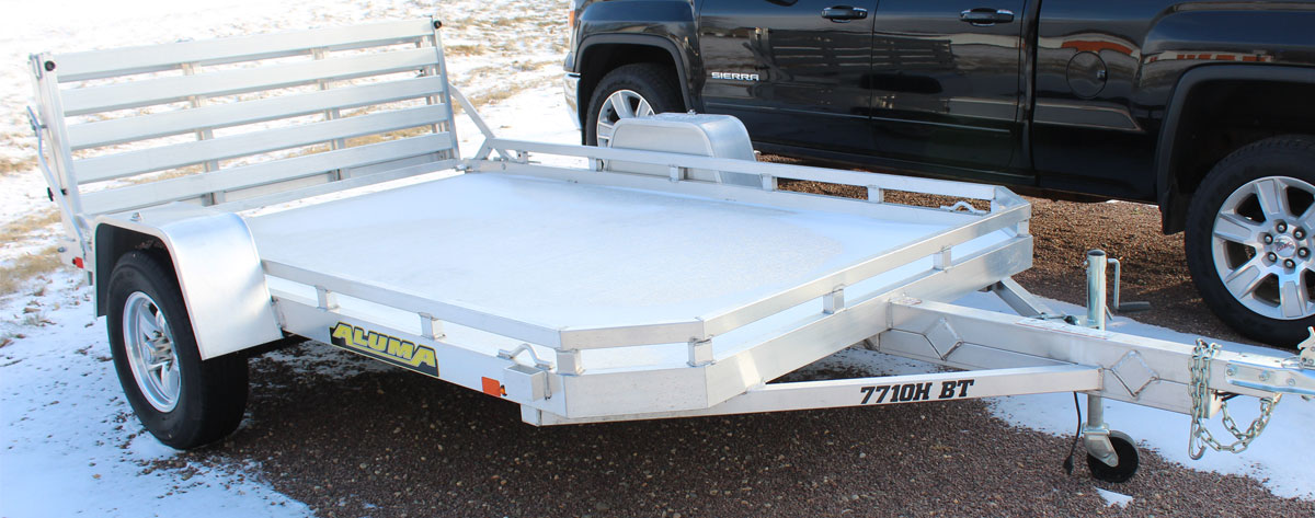 Aluminum Utility Trailer available for purchase at NCS Auto & Detail